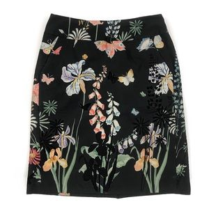 Anthropologie Liefsdottir butterfly floral skirt
